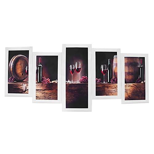 Pintura sin marco, pinturas de copa de vino tinto, pinturas decorativas para la decoración de la pared del hogar para regalos de cumpleaños