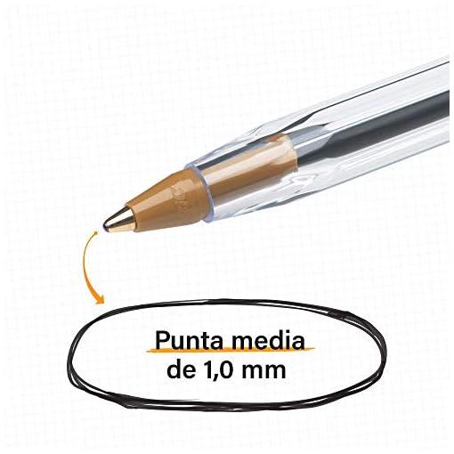 BIC Cristal Bolígrafos, Original, Óptimo para material escolar,Azul, Punta Media (1,0mm), Material Oficina y Papelaria… 3