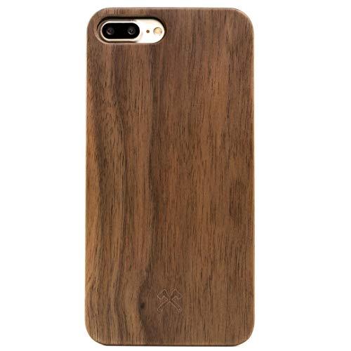 Woodcessories - Hülle kompatibel mit iPhone 7 Plus/ 8 Plus aus Echtholz - EcoCase Classic (Walnuss/Schwarz)