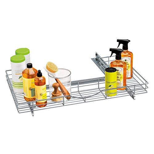 Lynk Professional U-Shape Slide Out Under Sink Drawer, 30w x 18d x 4h-Inch, Chrome