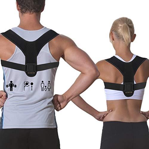 Olymstars Schultergurt Haltungskorrektur, Atmungsaktiv Verstellbarer RüCkenstüTze FüR Herren Und Damen, Haltungskorrektor Zur Schmerzlinderung Bei Nacken-, RüCken- Und Schulterschmerzen