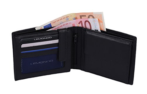 Ledergeldbörse LEMONDO mit RFID Ausleseschutz schwarz