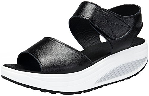 DAFENP Zapatos Mujer Cuña Sandalias Plataforma Malla