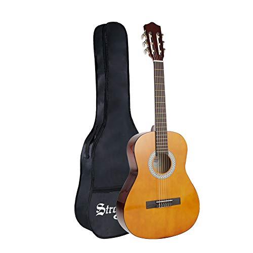 Strong Wind guitarra clásica acústica 3 4 tamaño36 pulgadas cuerdas de nylon para principiantes con funda