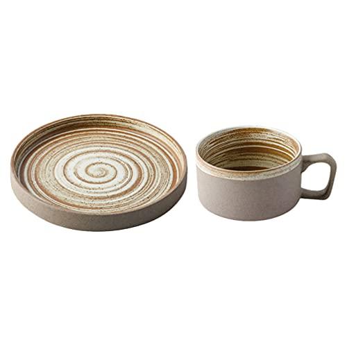 Cabilock Taza de Té de Cerámica con de Porcelana Capuchino Tazas de Café Taza de Té de La Tarde Taza de Café Británica Tazas de Té Set