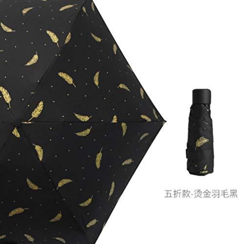 CHENXQ Mini Paraplu Clear Pocket Anti-UV Paraplu Winddicht Compact Regen Kinderen Paraplu's Regenbestendig 5 Vouwparaplu's
