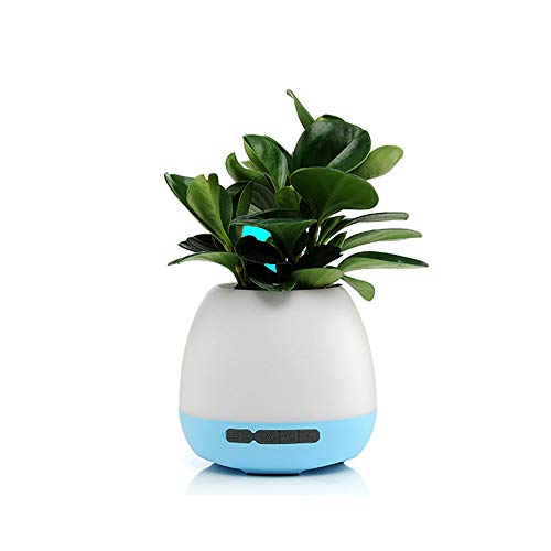 JAQ LED Music Flower Pot Night Light Wireless Bluetooth Speaker Touch Induction Table Lamp Smart Piano Playing Music Plant Pot
