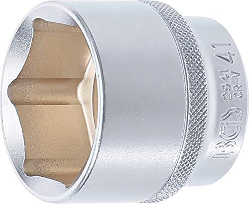 "BGS 2941   Steckschlüssel-Einsatz Sechskant   12,5 mm (1/2"")   SW 41 mm"