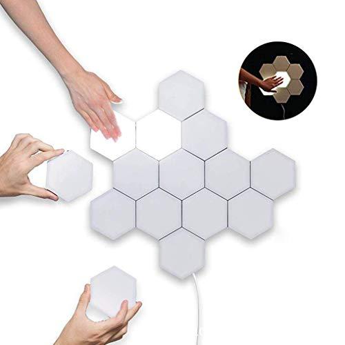 Touch- Sensitive Wandlampe 3W LED- Panels Leselampe Wandleuchte Dekoratives Wandlichter Leseleuchte Modern Weiß DIY Lampen Wandbeleuchtung mit 1× 1,2 m Kabel stecker (Warmweiß - Licht, 5 Pack)