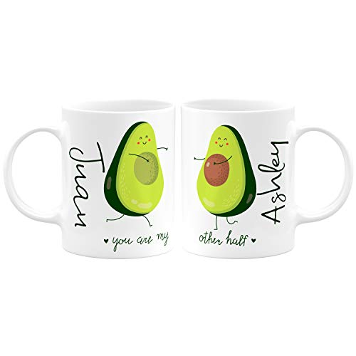 Taza personalizada para parejas de café y té de aguacate, 325 ml,...