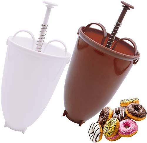 Donut Molde 2PCS Dispensador De Masa De Plástico Para Galletas Con Donut Portátil De Moldes Dosificador Para Rosquillas, Dispensador De Masa, Donuts, Rosquillas, Para Hacer Pasteles, Donuts,DIY