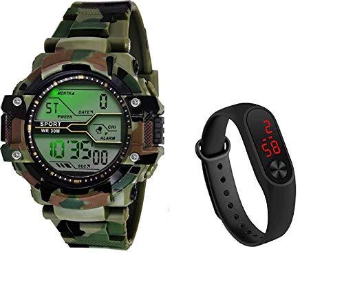 Silago LED Black-M2 Digital Watch - For Boys & Girls MiViME_10000 Digital Watch - For Boys
