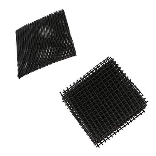 F Fityle 15pcs Cuttable Drenaje De Plástico Neto Bonsai Olla De Malla Maceta Parte Inferior Neta Jardín Suministros