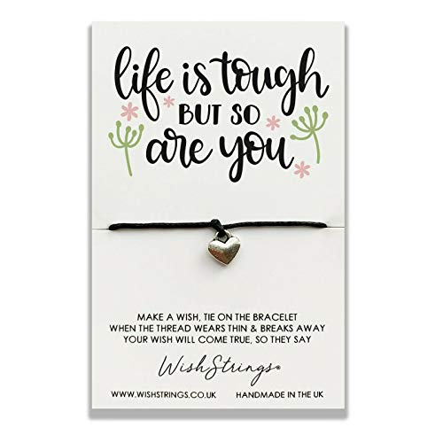 WishString Wish String Silver Charm Bracelet - Life is Tough but so are You