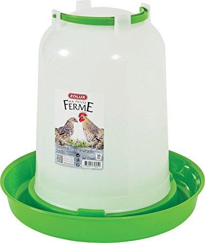 Zolux Abreuvoir Basse Cour Plastique pour Élevage/Agriculture Urbaine 10 L