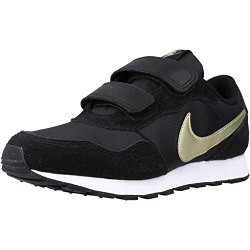 Nike MD Valiant PS Zapatillas Moda Nino Negro/Oro - 35 - Zapatillas Bajas