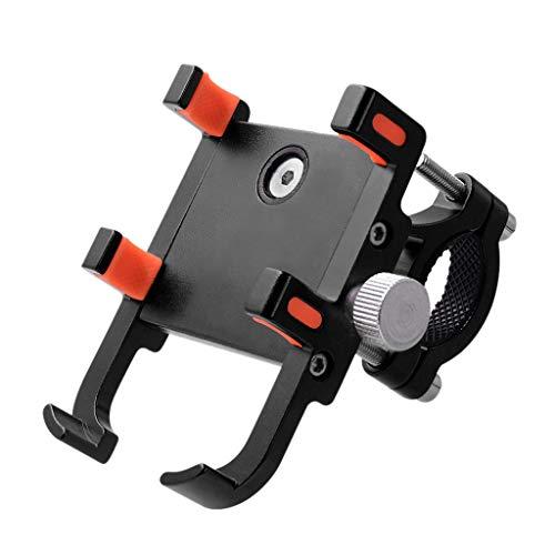 Handyhalterung Fahrrad Motorrad Handyhalter Holder - Universal Fahrradhalterung Motorrad Fahrrad Handyhalter Wiege Klammer Mit 360 Drehen für 5,4-9 cm Smartphone GPS und andere Geräte (Schwarz)