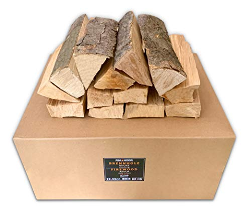 PINI Brennholz ofenfertig Buche 20 Kg ca. 25 cm für Kamin Grill Feuerschale Pizzaofen Smoker