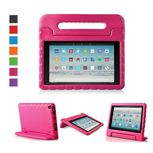 LTROP All-New Kid-Proof Case for Amazon Fire HD 10 Tablet (7th Generation, 2017 Release) - Rose
