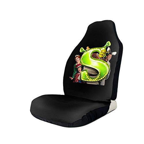 hengshiqi Car Seat Covers, Sherk The Musical Car Seat Cover Automotive Front Seat Protectors Fit for Most Car Truck SUV - 1PC/2PC