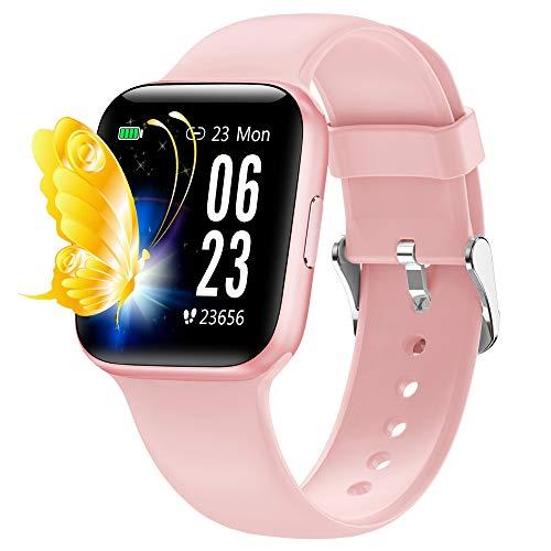 Orologio fitness, smartwatch cardieo touch screen da 1,54 pollici con cardiofrequenzimetro IP68 orologio smart da donna impermeabile per uomo e donna fitness tracker, per iPhone telefono Android