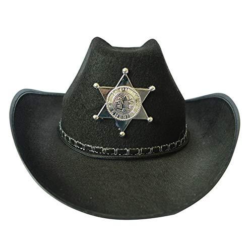 BYFRI Spaß-partei-ausstattungs-kostüm Einem Fünf-sterne-spitz Cattleman Straw Cowboy Und Sheriff-hut Für Halloween Office Parteien
