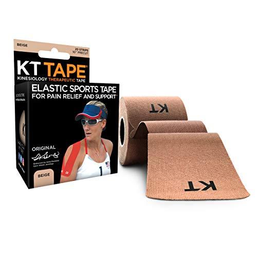 KT Tape Original 20 Strip Kinesiologie-Tape aus Baumwolle, beige, Einheitsgröße