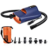 DONGYAN SUP Air Pump Electric Portable, 12V Digital Smart Inflation & Deflation Dual-Use High-Pressure sup inflator Pump Electric. Sup Electric Pump for Paddle Board, Inflatable Tent, Boats, Pool