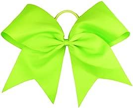 neon cheer bows