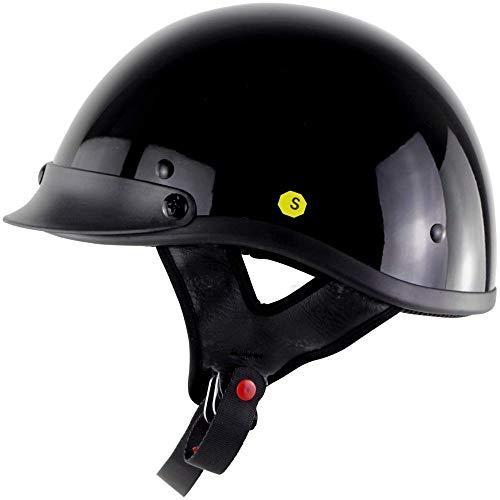ZHXH Harley Half Face Helm Dot Certified Retro Persönlichkeit Fashion Motorrad Männer und Frauen Jet Helm Half Helm Cruise Helm Prince Helm Fahrrad Roller Scooter Visier Helm