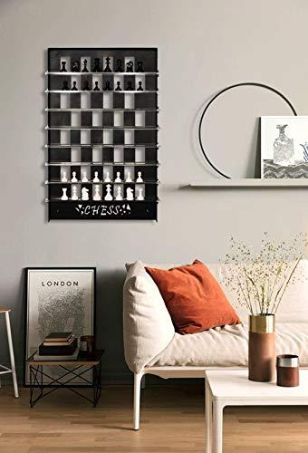 Tubibu Juego de ajedrez único para pared, regalo extraordinario, decoración de pared, arte de pared, decoración de pared