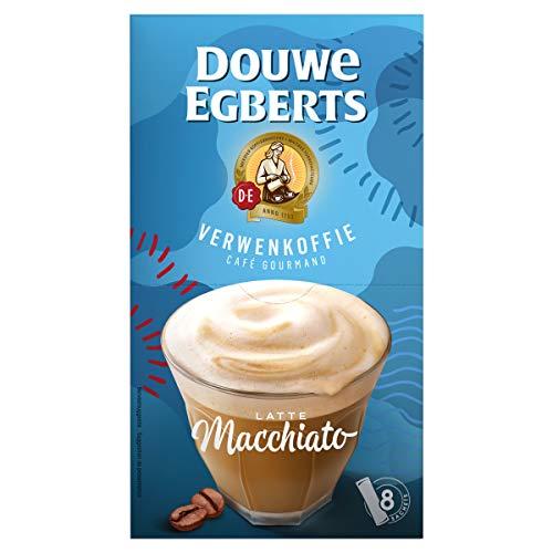Douwe Egberts Oploskoffie Latte Macchiato (80 Zakjes, Instant Koffie), 10 x 8 Zakjes