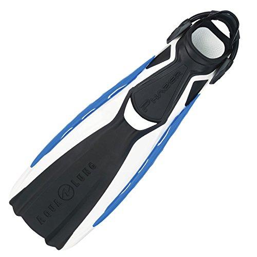 AQUALUNG Phazer - Aleta, Color Blanco/Azul, Talla M