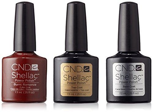 CND Original CND Shellac Burnt Romance plus Base Coat plus Top Coat 7.3 ml, 1er Pack (1 x 22 ml)