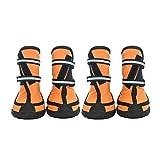 MOLUO Zapatos para Perros 4 PC/Set Zapatos del Animal doméstico Impermeable de la Lluvia for el Medio Perros Grandes Colores Multi Opcional Perro Botas de Lluvia Cómodos (Color : Gold, Size : XL)