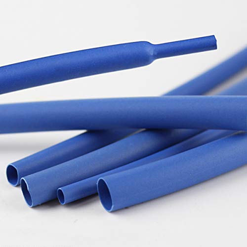 LEISHENT Tubo termorretráctil Juego de Funda de Envoltura de Cable de Alambre, Tubería de Funda Aislada, para Uso Industrial Longitud: 10 m / 32,8 pies, Azul,4.5mm