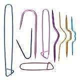CULER 9pcs / Set Los titulares de Aluminio Hace Punto de Punto Agujas marcadores Ganchillo Herramientas de Bloqueo de la Puntada de Costura DIY Artes de Costura