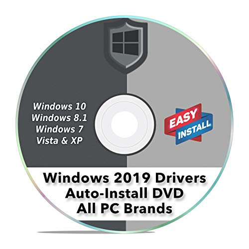 Windows Driver Software 2019 Automatic Easy Install Updater DVD Disc for Windows 10, 8, 7, Vista, & XP | Full Computers Support Dell HP Toshiba Sony Asus Lenovo Gateway Acer etc.