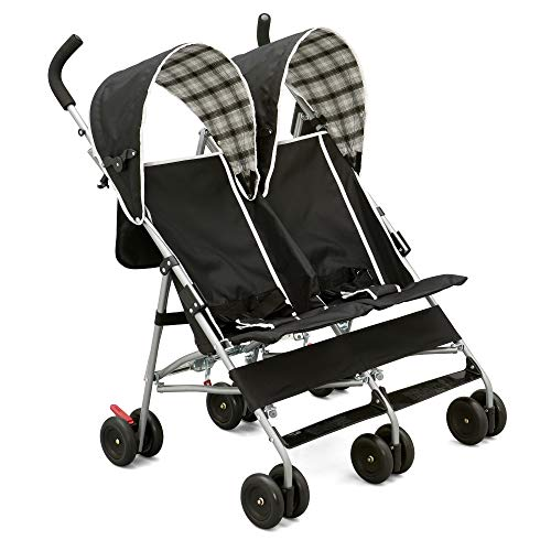 Delta Children City Street Side by Side Stroller, Black