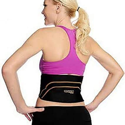 """Men Copper Fit Back Pro As Seen On TV Compression Lower Lumbar Support Belt / Size:L/XL waist (39"""" – 50"""")"""