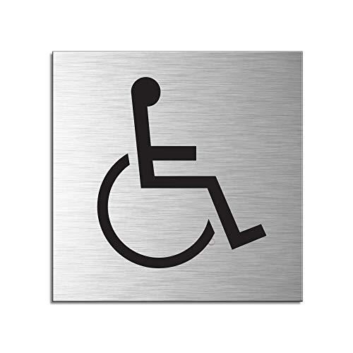 OFFORM I Placa de puerta I Aluminio cepillado I 120x120 mm I...