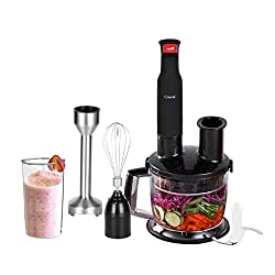 Caynel 6-in-1 500W Immersion Hand Blender Set