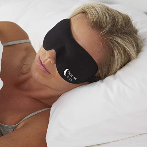 Bedtime Bliss Luxury Sleeping Eye Mask for Men & Women. Our Sleep Masks are Adjustable, Contoured & Comfortable for Full Blackout...
