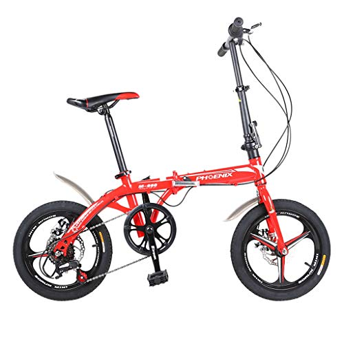 Find Discount Folding Bikes Folding Bicycle 16 Inch Men and Women Models Lightweight Bicycle Adult C...