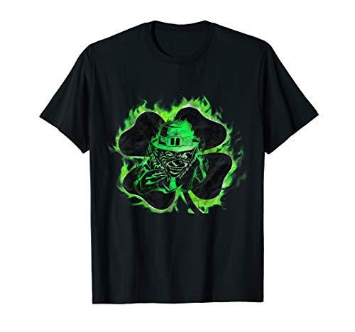 Leprechaun irischer Kobold grüne Flammen T-Shirt & Design