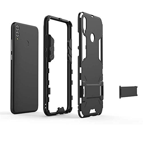 Huawei Honor 8X Hülle, MHHQ Hybrid 2in1 TPU+PC Schutzhülle Rugged Armor Case Cover Dual Layer Bumper Backcover mit Ständer für Huawei Honor 8X -Red - 3