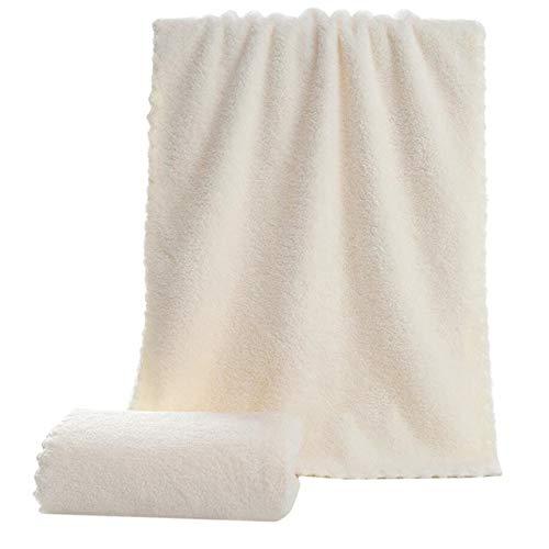 MAWA Toallas de baño súper absorbentes de 10 Colores para Adultos Toallas Grandes Baño Cuerpo SPA Deportes Toalla de baño de Microfibra de Lujo para Playa - Vainilla