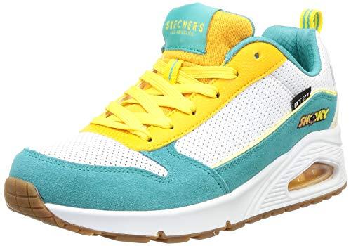 Skechers Street Uno-universtar Bt21 Damen Sneaker, Trkis (Weiß/Aqua), 38 EU