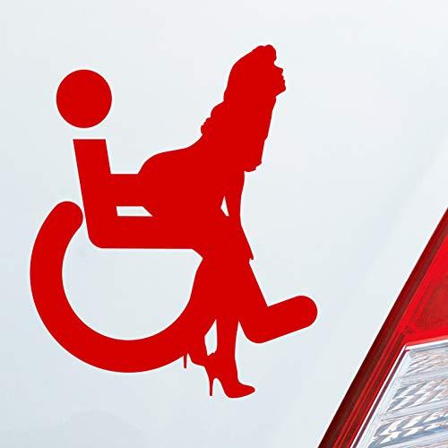 Auto Aufkleber in deiner Wunschfarbe Rollstuhl Piktogramm Porn Shocker 10x8 cm Autoaufkleber Sticker