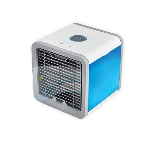 DDZY 3 en 1 enfriador de aire portátil mini espacio personal aire acondicionado, humidificador y purificador con 7 colores luces LED para habitación, oficina, al aire libre